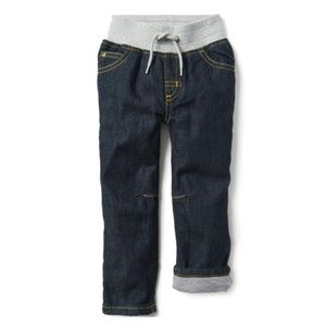 Crazy8 Toddler Lined Pull On Jeans